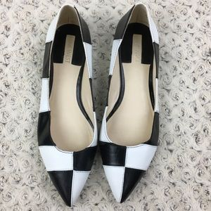 Nine West Colorblock Patchwork Leather Pointy Flat